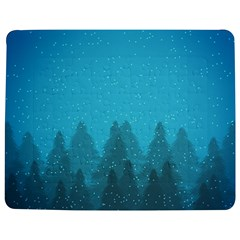 Winter Land Blue Jigsaw Puzzle Photo Stand (rectangular)