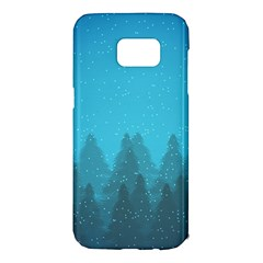 Winter Land Blue Samsung Galaxy S7 Edge Hardshell Case