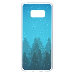 Winter Land Blue Samsung Galaxy S8 Plus White Seamless Case