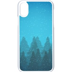 Winter Land Blue Apple Iphone X Seamless Case (white)