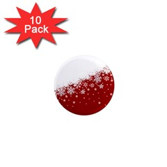 Xmas Snow 01 1  Mini Magnet (10 Pack)