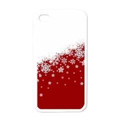 Xmas Snow 01 Apple Iphone 4 Case (white)