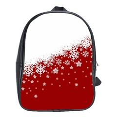 Xmas Snow 01 School Bag (xl) by jumpercat