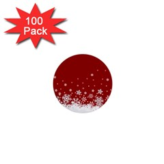 Xmas Snow 02 1  Mini Buttons (100 Pack)
