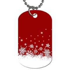 Xmas Snow 02 Dog Tag (two Sides)