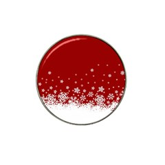 Xmas Snow 02 Hat Clip Ball Marker (4 Pack)