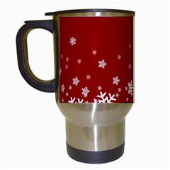 Xmas Snow 02 Travel Mugs (white)
