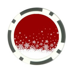 Xmas Snow 02 Poker Chip Card Guard (10 Pack)