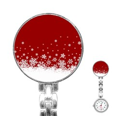 Xmas Snow 02 Stainless Steel Nurses Watch by jumpercat