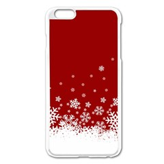 Xmas Snow 02 Apple Iphone 6 Plus/6s Plus Enamel White Case