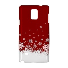 Xmas Snow 02 Samsung Galaxy Note 4 Hardshell Case
