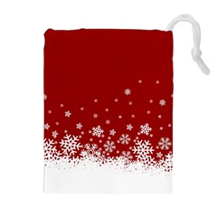 Xmas Snow 02 Drawstring Pouches (extra Large)