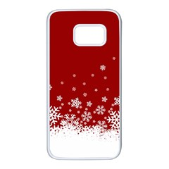 Xmas Snow 02 Samsung Galaxy S7 White Seamless Case by jumpercat