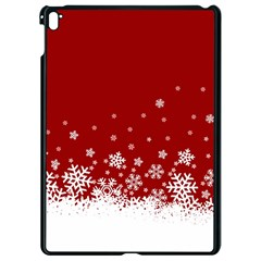 Xmas Snow 02 Apple Ipad Pro 9 7   Black Seamless Case