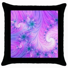 Delicate Throw Pillow Case (black) by Delasel