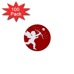 Cupid Bow Love Valentine Angel 1  Mini Buttons (100 Pack)