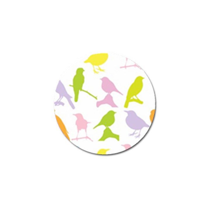 Birds Colourful Background Golf Ball Marker (4 pack)