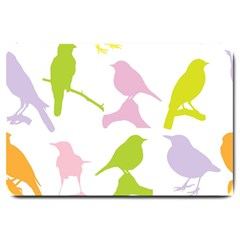 Birds Colourful Background Large Doormat