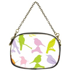 Birds Colourful Background Chain Purses (two Sides)
