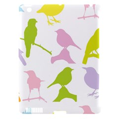 Birds Colourful Background Apple Ipad 3/4 Hardshell Case (compatible With Smart Cover) by Celenk
