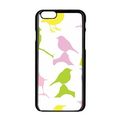 Birds Colourful Background Apple Iphone 6/6s Black Enamel Case by Celenk