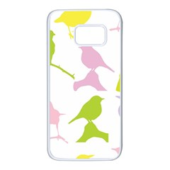 Birds Colourful Background Samsung Galaxy S7 White Seamless Case