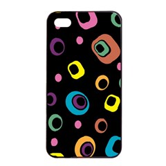 Abstract Background Retro 60s 70s Apple Iphone 4/4s Seamless Case (black) by Celenk