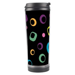 Abstract Background Retro 60s 70s Travel Tumbler by Celenk