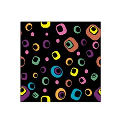Abstract Background Retro 60s 70s Satin Bandana Scarf
