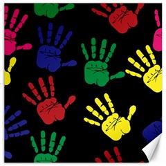 Handprints Hand Print Colourful Canvas 20  X 20   by Celenk
