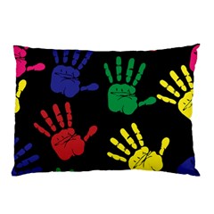 Handprints Hand Print Colourful Pillow Case (two Sides) by Celenk