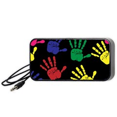 Handprints Hand Print Colourful Portable Speaker