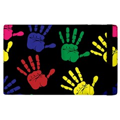 Handprints Hand Print Colourful Apple Ipad 2 Flip Case by Celenk