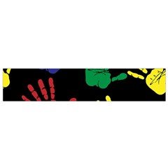 Handprints Hand Print Colourful Small Flano Scarf by Celenk