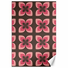 Floral Retro Abstract Flowers Canvas 20  X 30   by Celenk