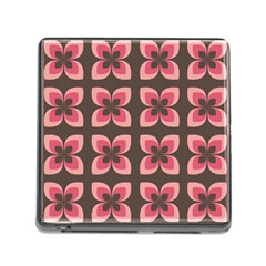 Floral Retro Abstract Flowers Memory Card Reader (square)