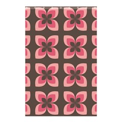 Floral Retro Abstract Flowers Shower Curtain 48  X 72  (small)