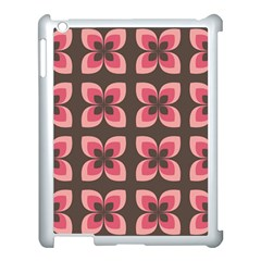 Floral Retro Abstract Flowers Apple Ipad 3/4 Case (white) by Celenk
