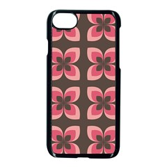 Floral Retro Abstract Flowers Apple Iphone 7 Seamless Case (black) by Celenk