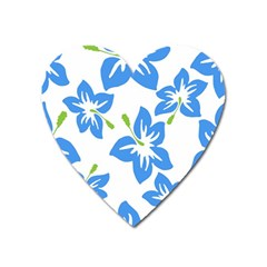 Hibiscus Wallpaper Flowers Floral Heart Magnet