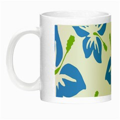Hibiscus Wallpaper Flowers Floral Night Luminous Mugs by Celenk