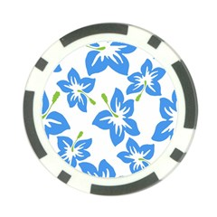 Hibiscus Wallpaper Flowers Floral Poker Chip Card Guard by Celenk