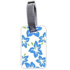 Hibiscus Wallpaper Flowers Floral Luggage Tags (two Sides) by Celenk