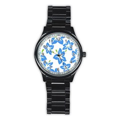 Hibiscus Wallpaper Flowers Floral Stainless Steel Round Watch by Celenk