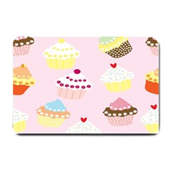 Cupcakes Wallpaper Paper Background Small Doormat  by Celenk