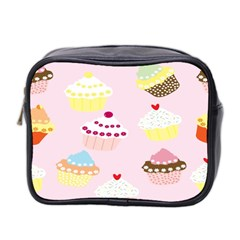 Cupcakes Wallpaper Paper Background Mini Toiletries Bag 2 Side by Celenk