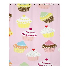 Cupcakes Wallpaper Paper Background Shower Curtain 60  X 72  (medium)  by Celenk