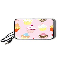 Cupcakes Wallpaper Paper Background Portable Speaker