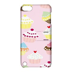 Cupcakes Wallpaper Paper Background Apple Ipod Touch 5 Hardshell Case With Stand by Celenk