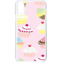 Cupcakes Wallpaper Paper Background Apple Iphone X Seamless Case (white)